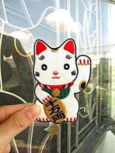1 Dollar Shipping - Cute / Kawaii Lucky Cat Patch / Applique on Etsy, $3.60