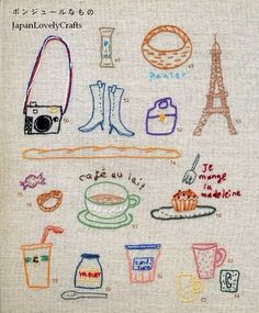 Design Collection for Kids and Children - Japanese Craft Book for One Point Embroidery -Kawaii Motif Stitch - B634. $22,00, via Etsy.