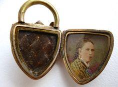 Antique Victorian Memorial Hair Locket by treasurebooth on Etsy, $250.00