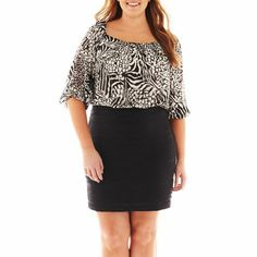 25dfdc92580dc Danny   Nicole Animal Print Blouson Dress - Plus Jcpenney Coupons