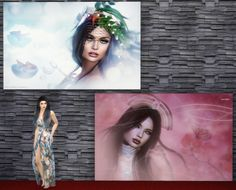 BABEL SIMS: TS4 Paintings: Aura Meads Fotografia Set N04 by Th...