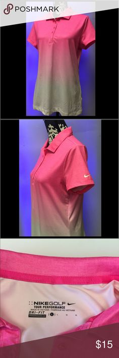 Nike Golf Polo Shirt Women's Nike Golf Polo Shirt  Dri-Fit  Size Large  87% Polyester 13% Spandex  Good Condition with Normal Wear Nike Tops Tees - Short Sleeve