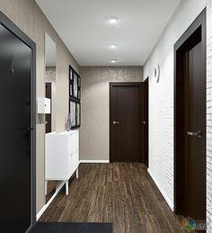 Интерьер современной двухкомнатной квартиры, дизайн прихожей