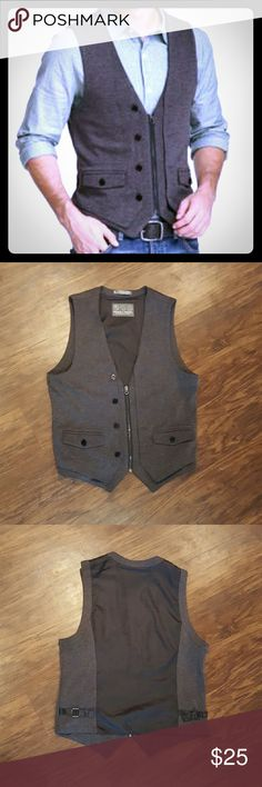 Threads 4 Thoughts * Men's Vest In excellent condition. Looks like new! Mens size Medium. Zip up, buttons are for looks. The back is black & silky.  I love how this vest can be dressy or casual! Threads 4 Thought Suits & Blazers Vests