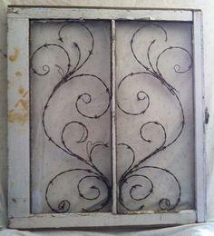 Marco de ventana alambre