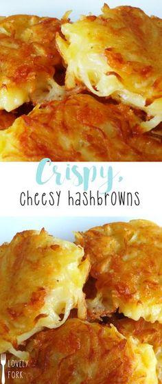 Crispy, Cheesy Hashbrowns | lovelyfork