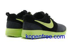 newest 72c33 f5a2e Kopen goedkope heren Nike Roshe Run Schoenen  (kleur flirt,binnen-zwart,logo,tong-groen) online in nederland.