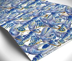 Lobster #wrapping paper. Yummy!  http://www.alocalprinter.co.uk/products/