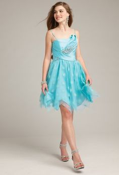 Prom Dresses 2013 - Gliter Short Hanky Hem Dress from Camille La Vie and Group USA