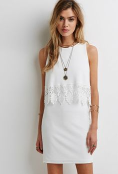 Crochet Trim Layered Dress | Forever 21 - 2000079431