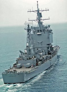 One of a kind: Stern view of nuclear-powered guided-missile cruiser USS Long Beach