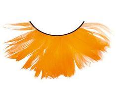 Feder Wimpern Orange #Federwimpern #Karnevalswimpern #Faschingswimpern