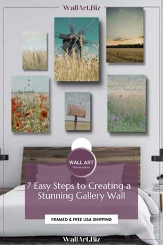 FRAMED & FREE USA SHIPPING #pictureset #picturesettingideas #picturesetideas #howtocreateapictureset Bedroom Canvas, Bedroom Artwork, Canvas Wall Art, Wall Art Designs, Art Blog, Mind Blown, Free Design, Gallery Wall, Art Walls