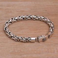 Short Silver & Grey Coloured Chunky Bracelet 19.5cm Good Taste Bracelets