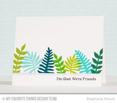 Glad We're Friends Card by Stephanie Klauck featuring the Large Desert Bouquet and Snuggle Bunnies stamp sets #mftstamps