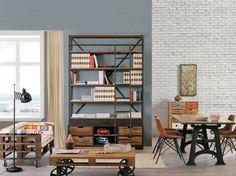 Industrial arredamento ~ Industrial e vintage libreria porta tv scala paoletti industria