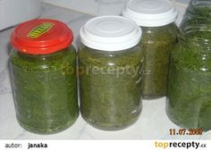 Kopr v sladkokyselém nálevu - TopRecepty. Preserves, Pickles, Cucumber, Mason Jars, Recipes, Author, Water, Preserve, Preserving Food
