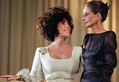 Elizabeth Taylor with Audrey Hepburn during a charity dinner for 'Art Against AIDS' in Basel, Switzerland (June 11, 1991).