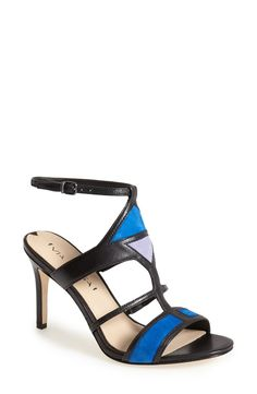 Via Spiga 'Vamerie' Ankle Strap Sandal suede/leather positano/black