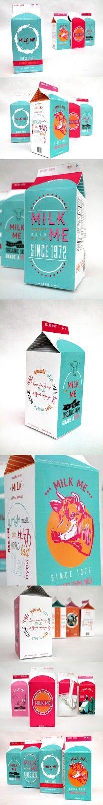 MILK BOX  MILK PACKAGING DESIGN  RETRO MILK DESIGNED BY TAM