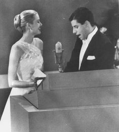Jerry Lewis and Grace Kelly at the Academy Awards, 1956