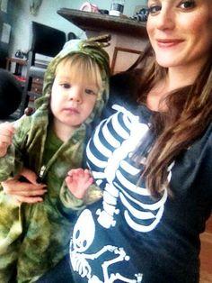 Gen's Halloween costume! So cute! Baby #2! And the ever so adorable Thomas as a dinosaur.