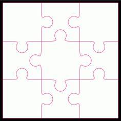 9 piece Jigsaw pattern by Bird