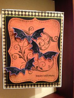 Halloween card #stampin' up! #top note