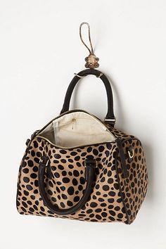 The Clare Vivier leopard duffle
