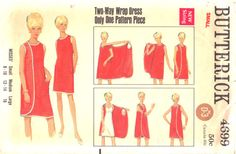 Butterick 4699 Misses 3 Armhole Wrap Dress Pattern Womens Vintage Sewing Pattern Size Small Bust 31 32 or Large Bust 38 Vintage Sewing Patterns, Clothing Patterns, Dress Patterns, Baby Patterns, Quilt Patterns, Vetements Clothing, Couture Vintage, Patron Vintage, Diy Kleidung
