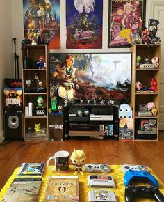 35 Trendy Home Office For Men Man Caves Dreams Man Cave Diy, Man Cave Home Bar, Geek Room, Gaming Room Setup, Gaming Rooms, Video Game Rooms, Video Games, Otaku Room, Game Room Design