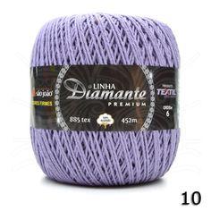 Barbante Diamante Premium nº06 400g na cor Lilás N°10.