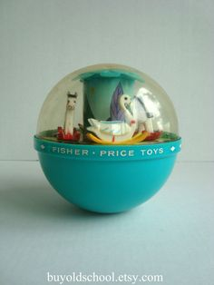 1966 Fisher Price Toys...VINTAGE roly poly CHIME BALL. I remember this like it was yesterday!