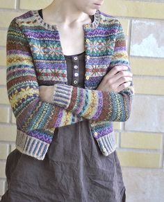 pattern 'Orkney' by Marie Wallin and knitted in Rowan Felted Tweed DK… Fair Isle Knitting Patterns, Fair Isle Pattern, Knitting Designs, Knit Patterns, Tejido Fair Isle, Punto Fair Isle, Rowan Knitting, Hand Knitting, Laine Rowan