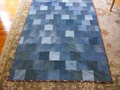 Free pattern day ! Denim quilts- The link brings you to a bunch of patterns for quilts to do with old jeans. You have to scroll down and click on each individual link to get the patterns and/tutorials.