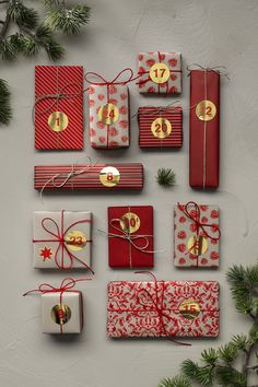 Here, you will find everything you need to make tons of lovely little parcels or your very own delightful Advent calendar. The 24 sheets are 30x30 cm, weigh 80 gsm, and are printed on one side – the back is white. Red theme with stickers with gold details. #DIY #panduro #advent #christmas #jul #adventskalender #julkalender #pakkekalender #julekalender Christmas Calendar, Advent Calendar, Christmas Diy, Make Your Own, How To Make, Paper Folding, Gift Wrapping Paper, Hobbies And Crafts, Stickers