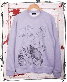 Stay warm and fun - Yum Yum Space jumper designed and printed in Sheffield by Don't Feed the Bears <3 £29