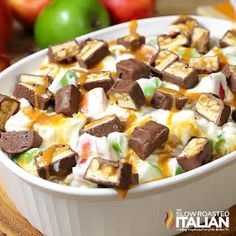 The Slow Roasted Italian - Printable Recipes: Snickers Caramel Apple Cheesecake Salad