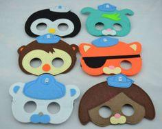 Octonauts Felt Masks - Birthday Party Favor. Great for Kids Boy Girl Child Toddler Superhero Costume Outfit. Kwazi Peso Dashi Tweak
