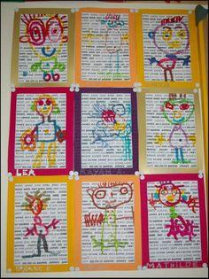 recycled newspaper crafts « Preschool and Homeschool Kindergarten Art, Preschool Art, Arte Elemental, Classe D'art, Art For Kids, Crafts For Kids, Ecole Art, Arts Ed, Process Art