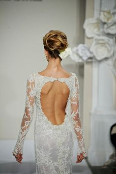 Pnina Tornai #wedding | Kat Harris. This is the perfect winter wedding dress! Soo gorgeous!