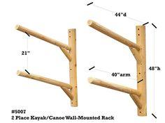 Wall Mount Kayak Rack | 2 Place Kayak Storage | Canoe Rack