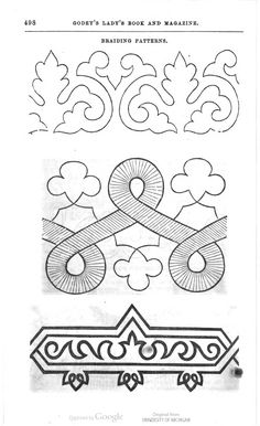 soutache embroidery pattern.... handkerchiefs, towels, love this as a gift!!!