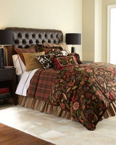 French Laundry Home Lara Bedding - home and bedding (brown floral, bedroom decor)