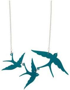 Mary Portas Turquoise swallow necklace.  Fab fashion jewellery!