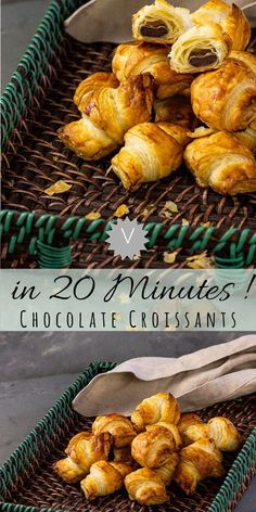 Fool-proof vegan chocolate croissants in under 20 min - Ve Eat Cook Bake - Recipe for quick vegan chocolate croissants. These croissants with chocolate filling are prepared i - Puff Pastry Desserts, Puff Pastry Recipes, Puff Pastry Quick Recipe, Filling Recipe, Quick Vegan Breakfast, Vegan Breakfast Recipes, Sunday Breakfast, Vegan Dessert Recipes, Dairy Free Recipes