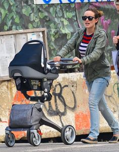 Check out Olivia Wilde pushing her baby Otis in a Stokke Stroller in Los Angeles.