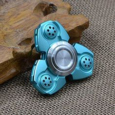Nuofeng Tri-Spinner Fidget Toy EDC Fidget Spinners Hand Spinners Anxiety Relief Toys Ceramic Bearing (Blue 11)