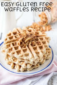 Easy Gluten-Free Waffles using @BobsRedMill 1-to-1 Baking Flour | Simply Quinoa