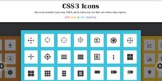 Free CSS3 Icons, #Code, #CSS, #CSS3, #Free, #Graphic #Design, #HTML, #HTML5, #Icon, #Resource, #Snippets, #Web #Design, #Development